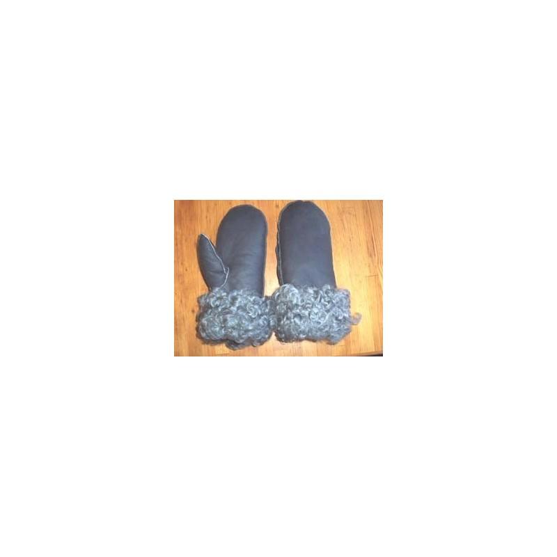 Lammskinnsvantar grå vaxade