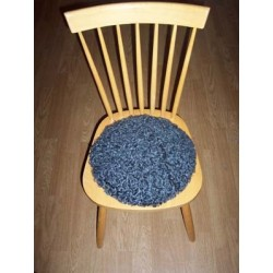 Stolsdyna av lammskinn - rund modell