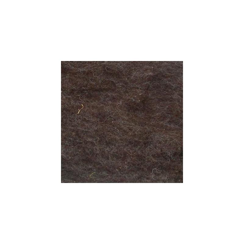 Kardflor brun ull